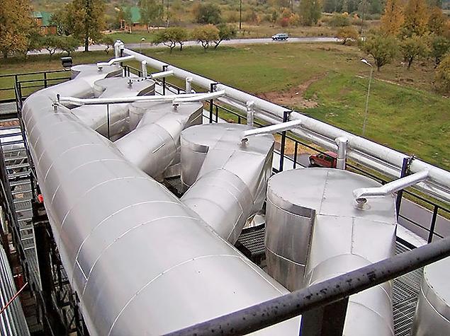 Dedusting installations systems