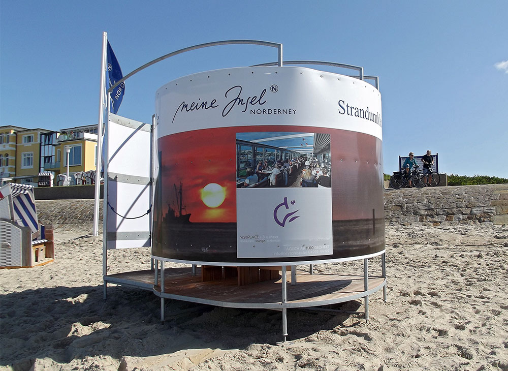 Umkleidekabine am Strand