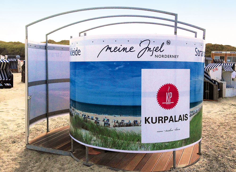 Beach changing room, Norderney